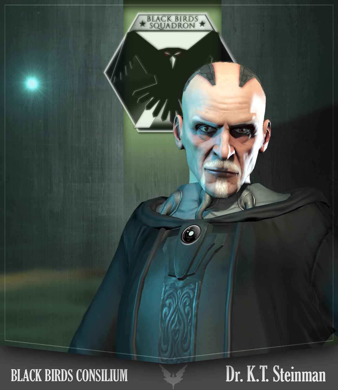 Dr. K.T. Steinman - Chef des expériences Aliens et du L.A.R.A